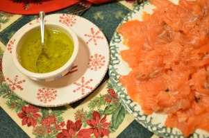 Salmone cotto in frigo